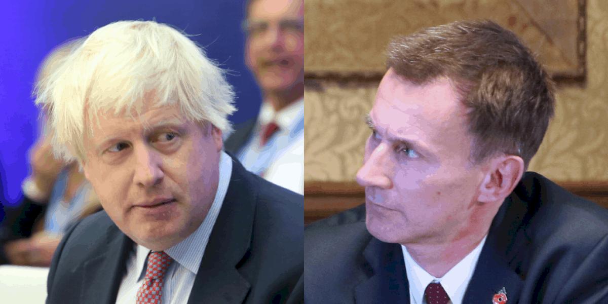 Johnson v Hunt – gan ach beirt fágtha i dtoghchán ceannaireachta na dTóraithe