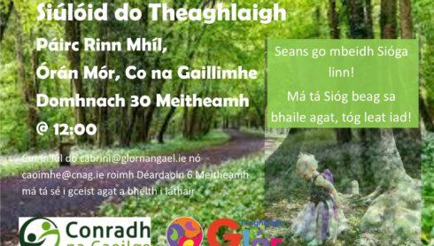 Siúlóid do Theaghlaigh i bPáirc Rinn Mhíl, Órán Mór