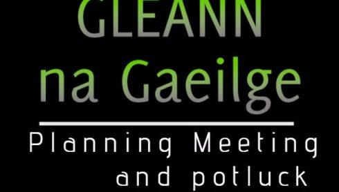 Gleann na Gaeilge - Planning Meeting