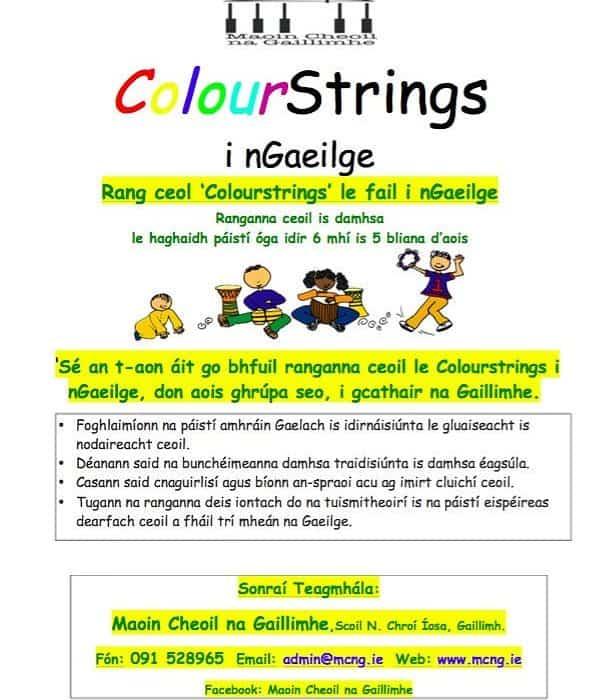Colourstrings i nGaeilge