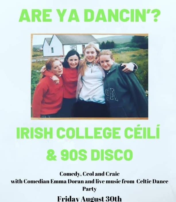 'Are ya Dancin?' Irish College Céilí and 90s Disco