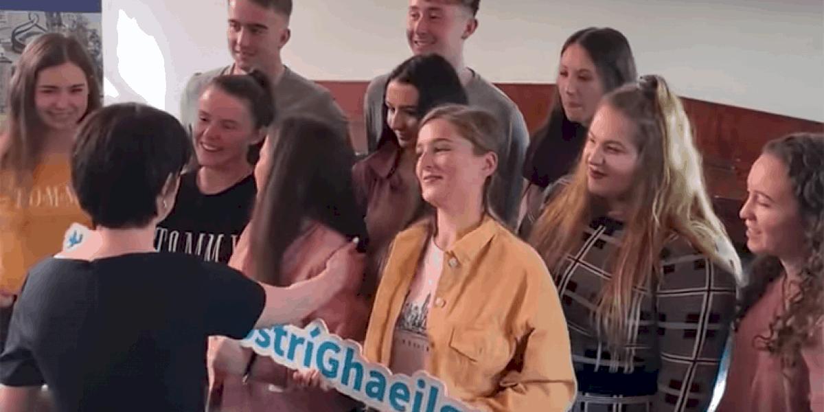FÍSEÁN: 'Nuair a chuala mé go raibh cúrsa Gaeilge ann bhí a fhios agam láithreach bonn gurb é sin an cúrsa domsa'