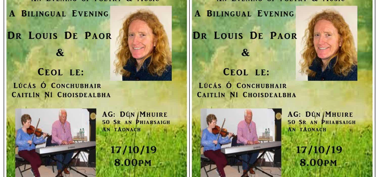 Oíche Cheoil agus Filíochta | Dr Louis De Paor