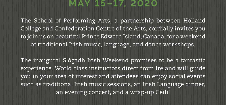 Slógadh Irish Weekend