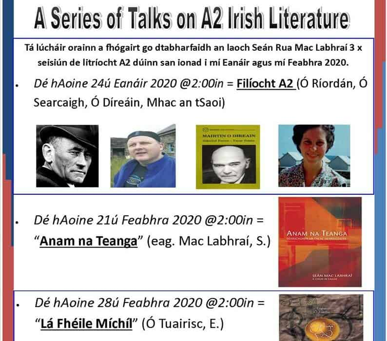 Sraith-chainteanna ar litríocht Gaeilge A2