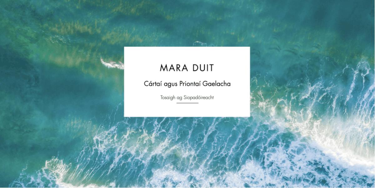 Mara Duit! Cartaí agus priontaí as Gaeltacht Thír Chonaill ar díol ar shiopa nua ar líne