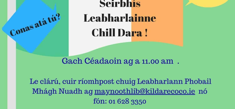 Ciorcal Comhrá Zoom le Leabharlann Phobail Mhágh Nuad