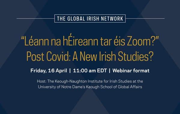 """""""Léann na hÉireann tar éis Zoom?"""""""